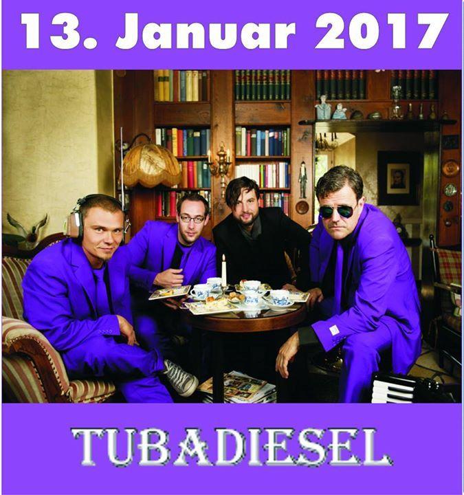 """#unser #Tip #gegen #den Aberglauben13. #Januar 2016 TUBADIESEL #live #im #De #Keller Mett... #unser #Tip #gegen #den Aberglauben13. #Januar 2016 TUBADIESEL #live #im #De #Keller #Mettlach Tubadiesel """" #das #sind #die Mutanten #der #Volksmusik. #Dieses Quartett #spielt #mit #dem ungewoehnlichen Instrumentarium Tuba, #Akkordeon, #Gitarre #Schlagzeug #und #Gesang #einfach #alles #in #neuer #und ungewohnter Weise. #Das Quartett #macht #vor #nichts halt. #Aus Altbekanntem #wird #S"""