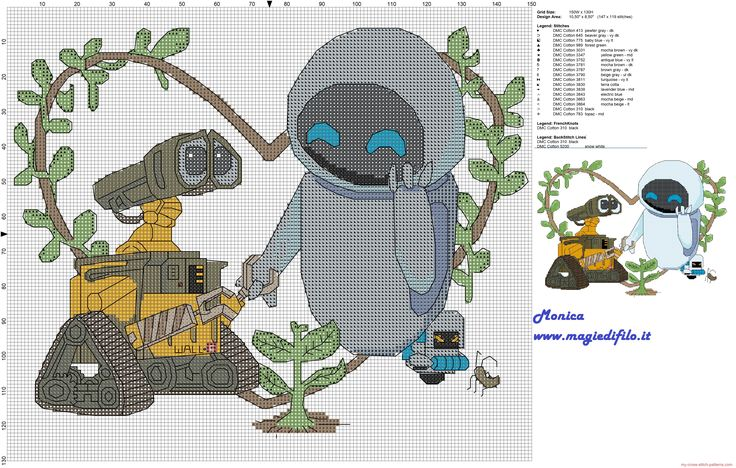 Disney Cross Stitch Patterns | ... and Eve cross stitch pattern 150x130 19 colors.... free Disney pattern