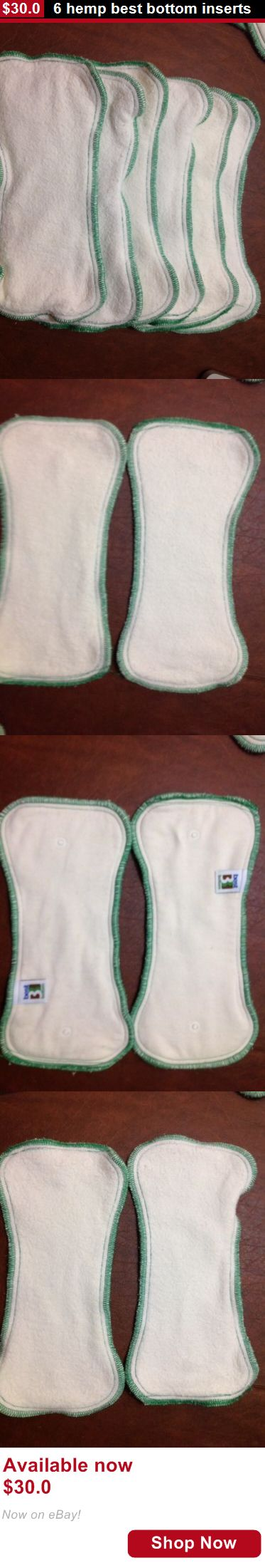 Baby Cloth Diapers: 6 Hemp Best Bottom Inserts BUY IT NOW ONLY: $30.0