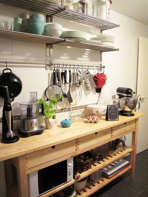 cocina by le chouchou via flickr ikea norden kitchens pinterest restaurant open shelving. Black Bedroom Furniture Sets. Home Design Ideas