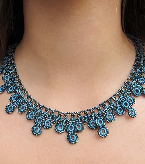 Our most Chic & Unique Collection of Hand Crocheted Jewelry The Turquoise Chic Crochet Necklace is vibrant and beautifully Chic! Stunning colors & delicate craftsmanship, the Crochet Collection is unl