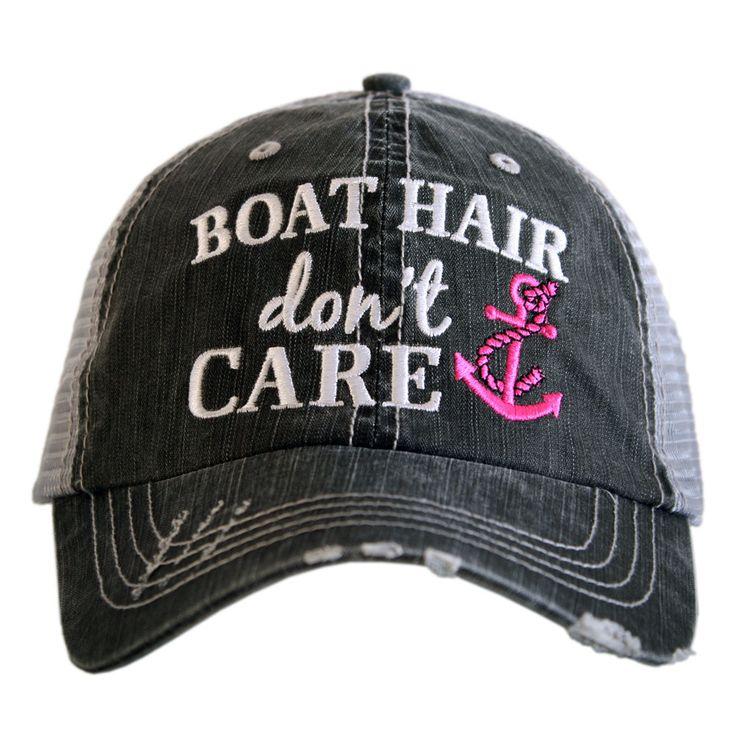 "HAT - BASEBALL TRUCKER HAT - ""BOAT HAIR DON'T CARE"""