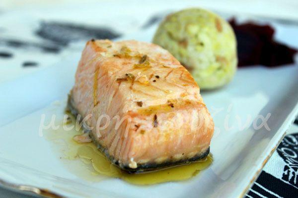 μικρή κουζίνα: Σολομός με ούζο και λεμόνι