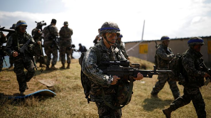 """Washington is currently """"reviewing"""" Seoul's proposal to delay the start of two annual joint US-South Korean military drills until after the Winter Olympics in PyeongChang, President Moon Jae-in said."""