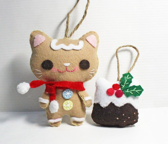 197 fantastiche immagini su gingerbread boys girls and for Cat christmas ornaments craft