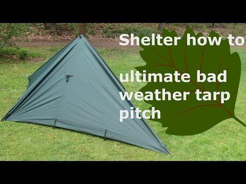 Pyramid tent from 8'x10' Tarp - YouTube