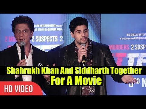 Shahrukh Khan And Siddharth To Work Together   Ittefaq Movie Press Conference