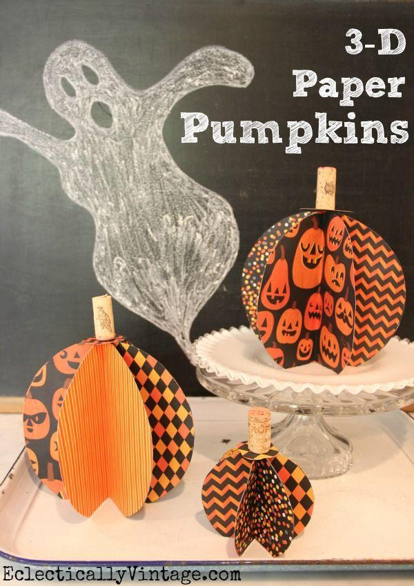 3D Paper Pumpkin Craft Tutorial