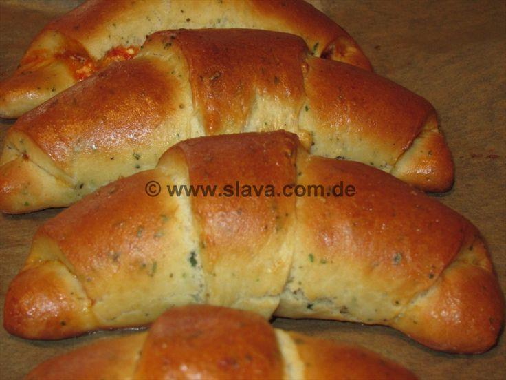 Mediterrane Hörnchen mit Ajvar und Frischkäse gefüllt « kochen & backen leicht gemacht mit Schritt für Schritt Bilder von & mit Slava