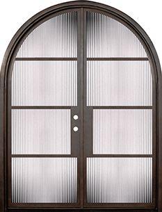 GlassCraft Door Company Buffalo Forge NP 4 Lite Round Top Double Door