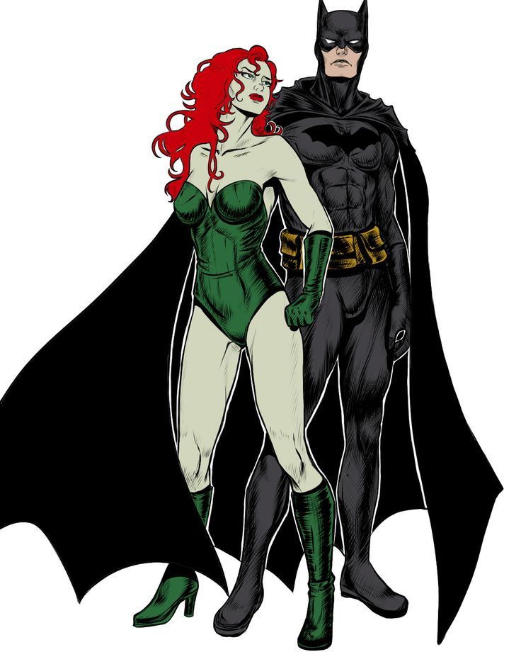 Batman and Poison Ivy  by ~Salamandra88