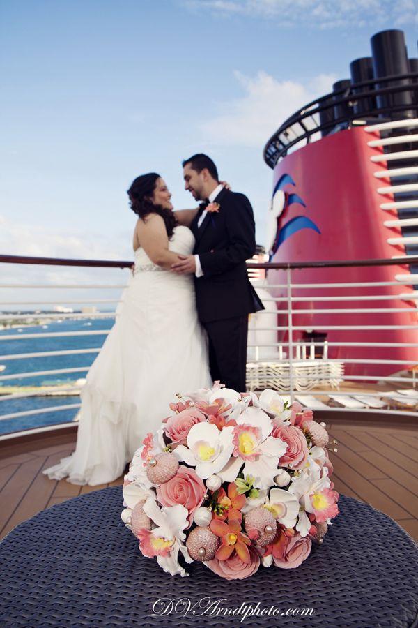 Disney Cruise Line wedding - Disney Dream Cruise Ship Wedding: Evianca + Hector