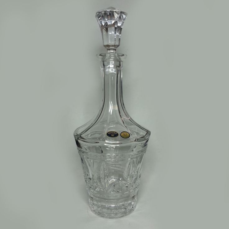 """Bohemia #crystal Decanter with Stopper 10"""" Tall Czech Republic visit our ebay store at  http://stores.ebay.com/esquirestore"""