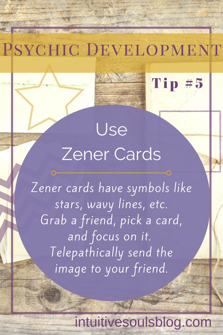 Zener cards are the funky ESP testing cards Bill Murray used in the movie Ghostbusters. Here are two real-life ways to use them to increase psychic ability.  https://occu.info/what-is-a-psychic-reading/