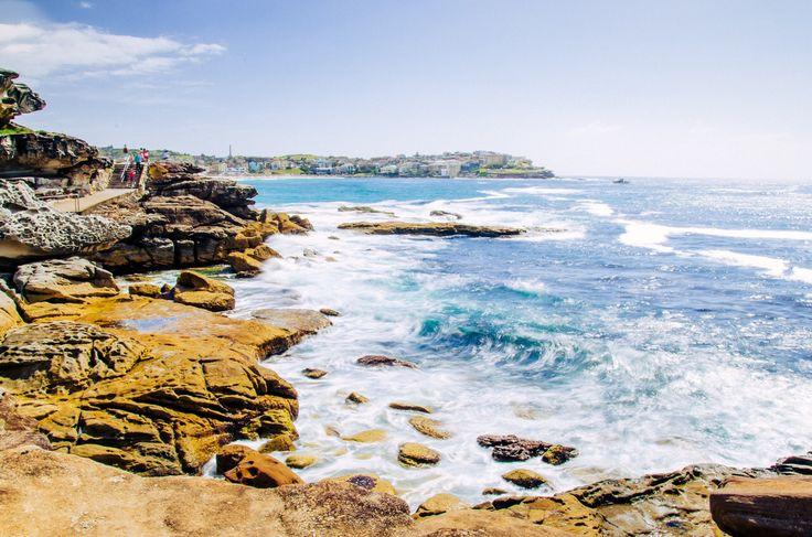 Bondi to Coogee / Bronte beach coastal walk, stunning rugged coastal scenery