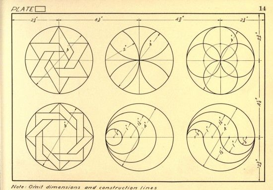 Geometrical Drawing: a collection of plates for use in elementary mechanical drawing (1915)