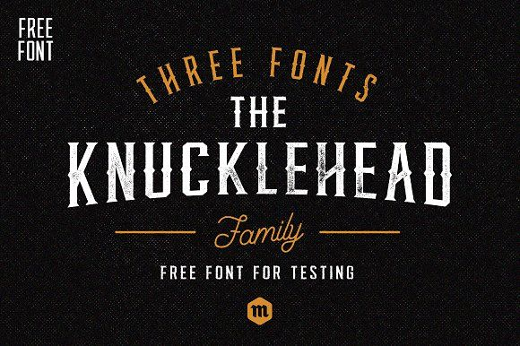 Knucklehead by Mcraft Shop on @creativemarket