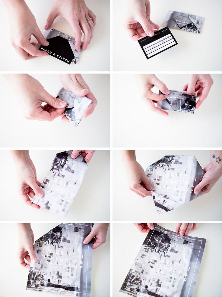 folded business card + poster