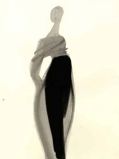 Fashion illustration by Mats Gustafson