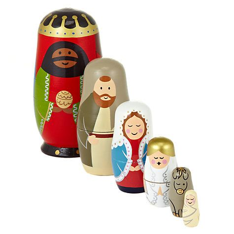 John Lewis Nativity Scene Russian Dolls