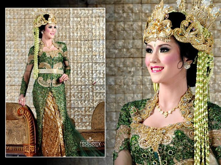 Sundanese bride in green