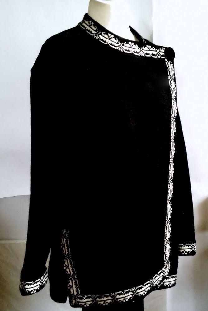 #tumbrl#instagram#avito#ebay#yandex      SELBU NORWAY WOMENS SWEATER black- White size XL #SELBU #Cardigan