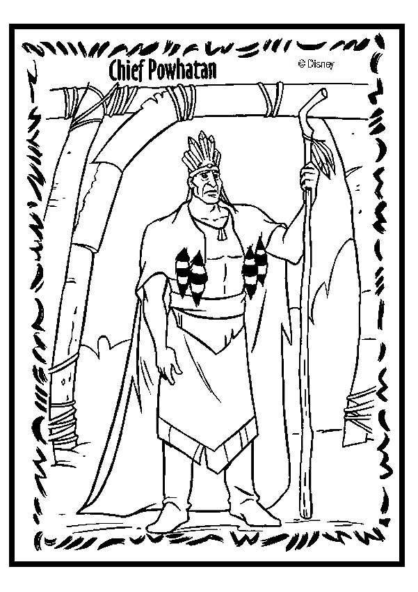 chief powhatan coloring page  coloring pages free adult