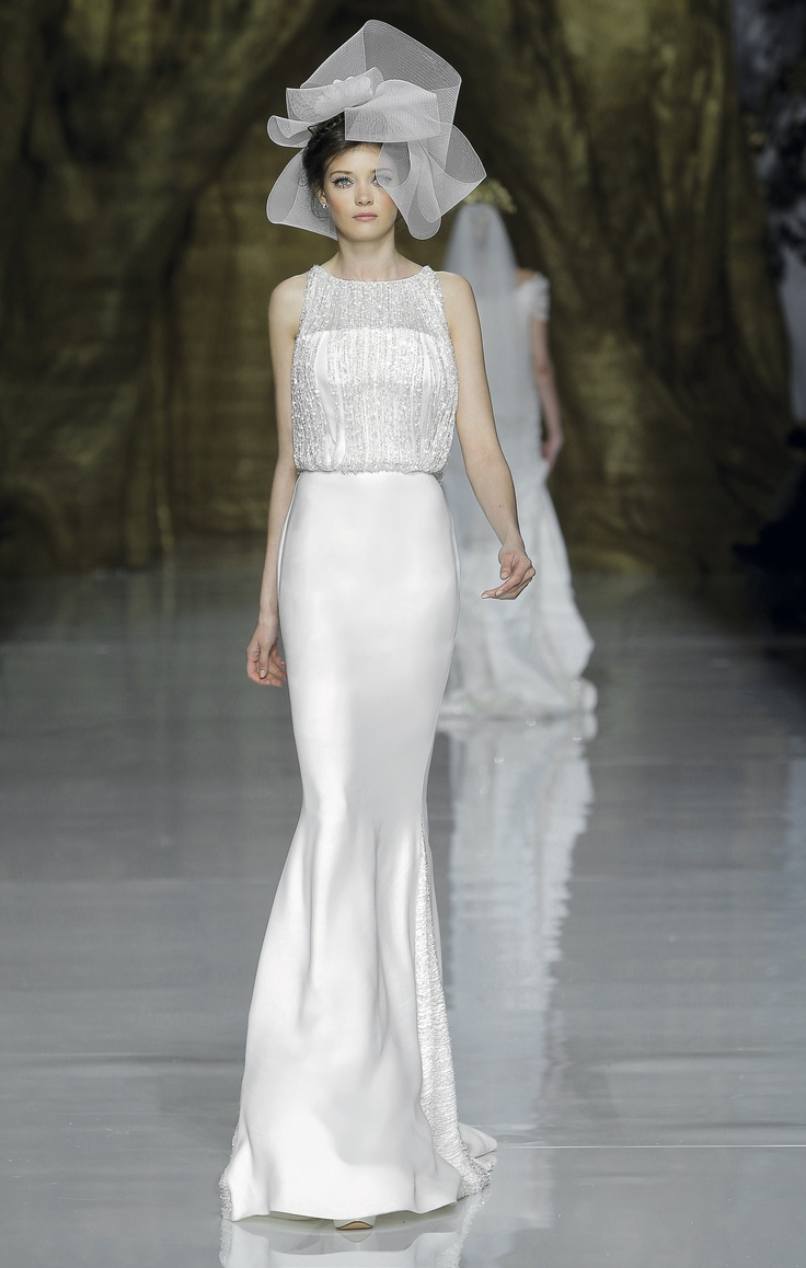 Beautiful enter the world of Pronovias Barcelona with their First Love Bridal Collection featuring model beauties Irina