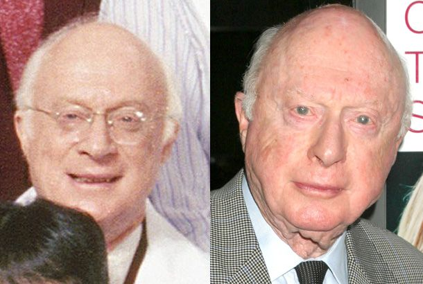 Norman Lloyd as Dr. Daniel Auschlander on St. Elsewhere in 1983 and Norman Lloyd in 2005