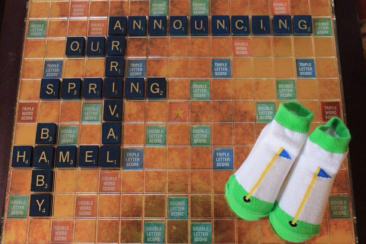 Scrabble Baby Announcement Baby Pinterest – Scrabble Baby Announcement