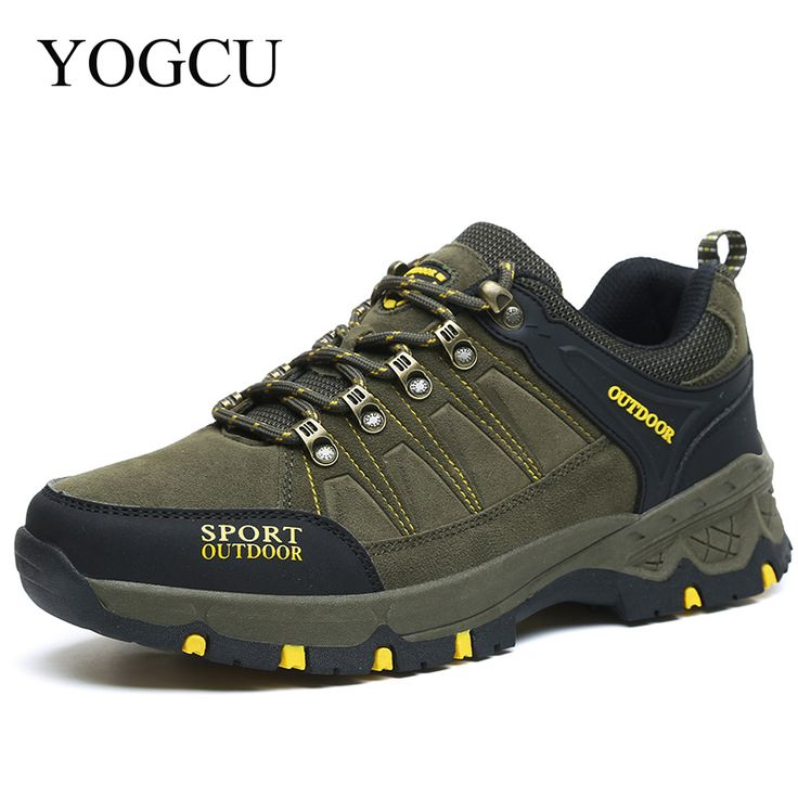 2017 Hiking Shoes Women Men Hunting Trekking Outventure Trail Senderismo Sneakers Zapatos Waterproof Leather Outdoor YOGCU #Affiliate