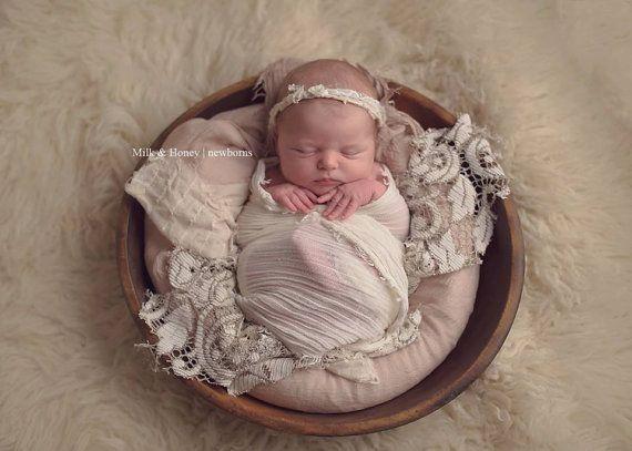 Graciously girly newborn layering set 3 pieces layering piece fabric burlap lace boy photography prop photo prop