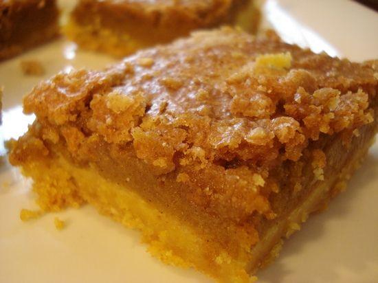 Pumpkin Crumb Cake....made with yellow cake mix, pumpkin puree, white & brown sugar, cinnamon, etc.