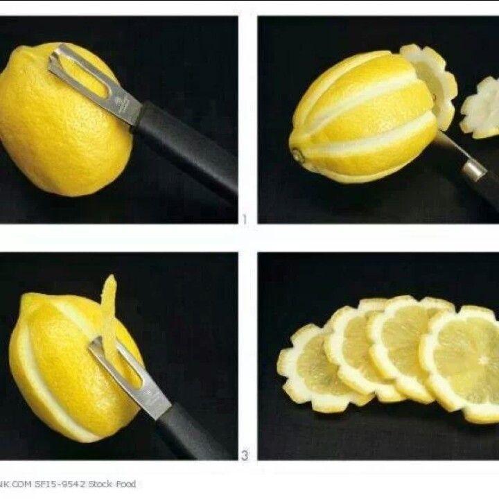 Pretty lemon slices.