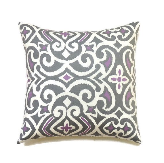 Gray Pillow 20x20 Pillow Cover Decorative Pillow by ThePillowToss