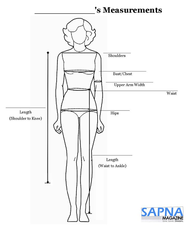Measurement Sheet id#2 Worksheet | Custom made clothing ...