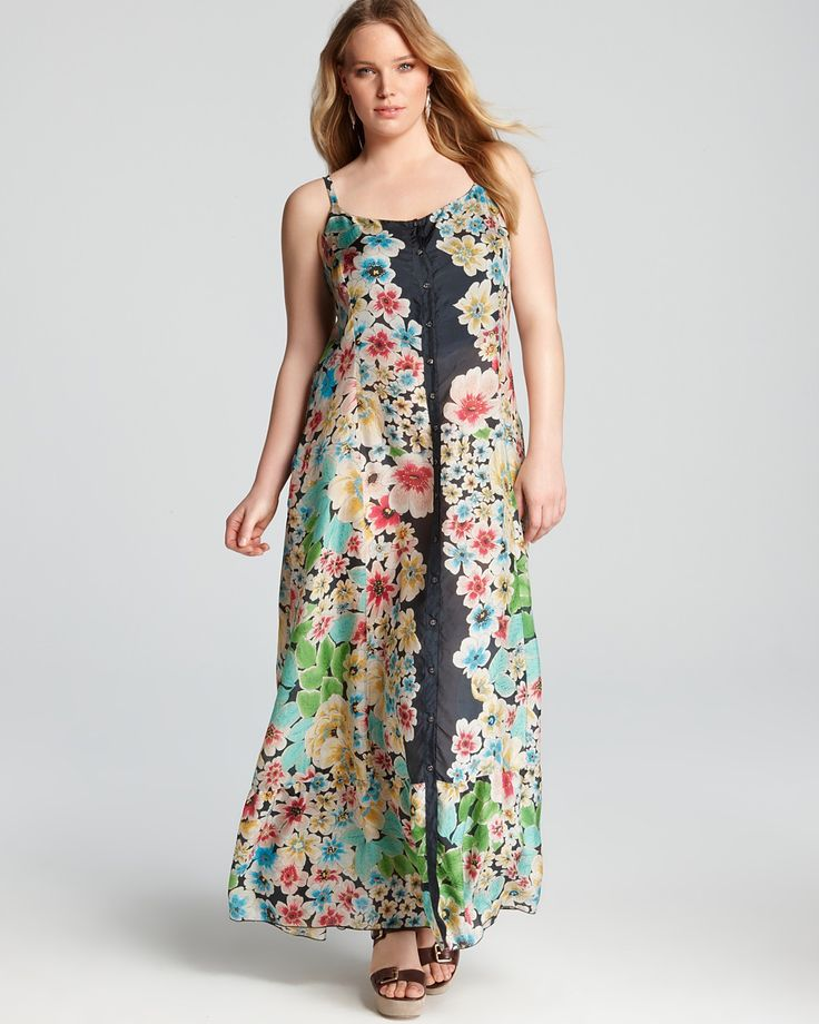 Silk Plus Size Maxi Dress (I'll be watching for this to go