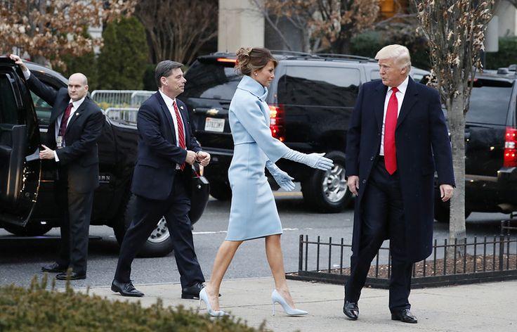 Меланья и Дональд Трамп, 20 января 2017 года