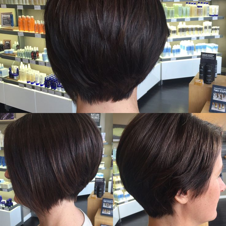 Hair by Kendra. Asymmetrical razor cut bob. To book an appointment with Kendra, call (780) 467-3288 or visit our website at www.sylviaco.com. Located in Sherwood Park, Alberta, Canada.