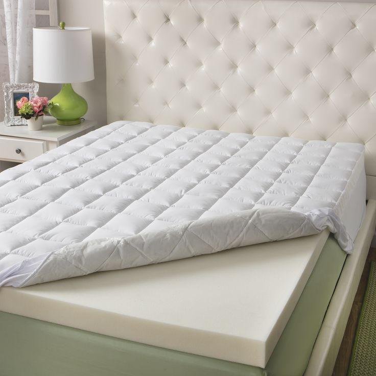 slumber solutions 3inch memory foam and 15inch fiber mattress topper
