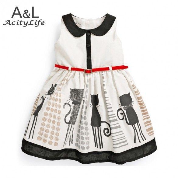 2.015 Novorozeně šaty bez rukávů Dětské Móda pásové Vest šaty ležérní Vestidos Dívčí letní šaty Doprava zdarma 38