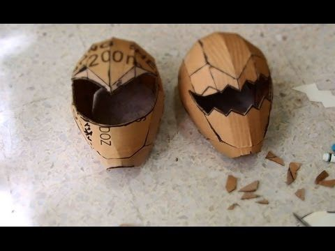 ▶ #56: Power Rangers Helmet DIY Part 1 - Cardboard (adult size template available) - YouTube