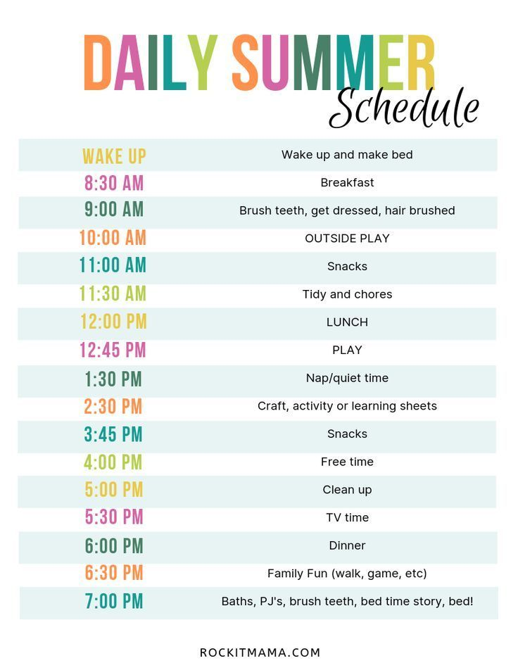 Create A Summer Activity Planner Free Printable Included Kids