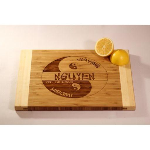 5360c3d733692 Personalized Two-Tone Cutting Board - Nguyen  bamboo  cutting  board ...