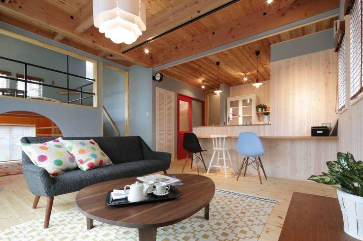 dwarf の 北欧風 リビングルーム K's HOUSE
