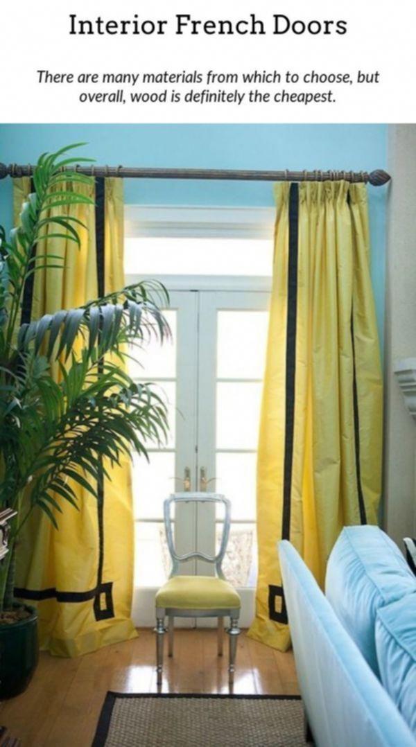 External French Doors Narrow Interior