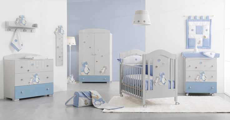 Erbesi Lilo & Gió in zarten grau-blau Tönen für ein stylishes Kinderzimmer, Möbel für Babys und Kinder