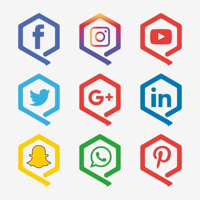 Social Media Icon Snapchat Facebook Instagram Twitter Whatsapp Set Network Popular Connec Social Media Icons Social Media Icons Free Logo Design Free Templates