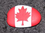 painted Canadian Flag Rocks