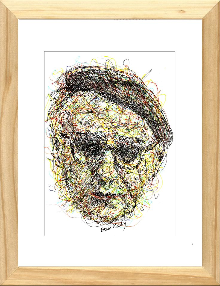Original impressionistic ink drawing The drawing is framed in natural wood with a white cardboard mount and glass. Overall frame size: 21 cm. wide X 27 cm. high X 2.8 cm. deep Patrick Kavanagh (21 October 1904 – 30 November 1967) was an Irish poet and novelist. His best-known works include the novel Tarry Flynn,…